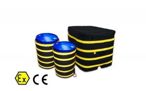 Coperte Termiche ATEX (fusti, barili, bombole, contenitori IBC)