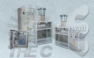 Batteries électriques ATEX de chauffage d'air et panneaux de contrôle ATEX